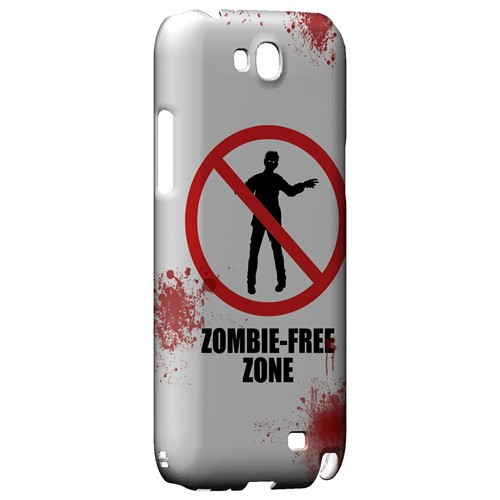 Zombie-Free Zone - Geeks Designer Line Apocalyptic Series Hard Case for Samsung Galaxy Note 2