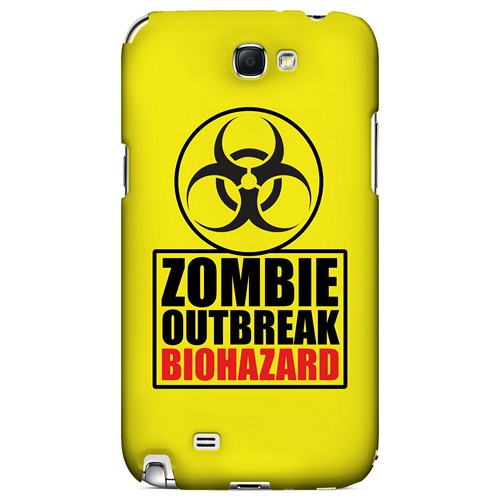 Zombie Outbreak Biohazard - Geeks Designer Line Apocalyptic Series Hard Case for Samsung Galaxy Note 2