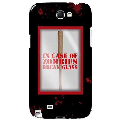 In Case of Zombies Break Glass - Geeks Designer Line Apocalyptic Series Hard Case for Samsung Galaxy Note 2