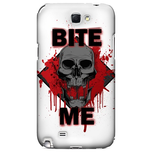 Bite Me on White - Geeks Designer Line Apocalyptic Series Hard Case for Samsung Galaxy Note 2