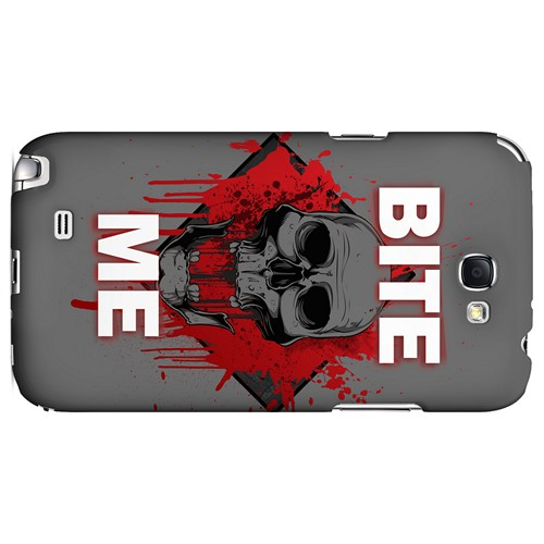 Bite Me on Gray - Geeks Designer Line Apocalyptic Series Hard Case for Samsung Galaxy Note 2