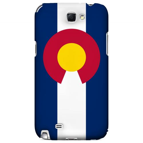 Colorado - Geeks Designer Line Flag Series Hard Back Case for Samsung Galaxy Note 2