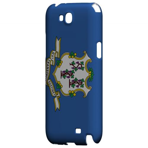 Connecticut - Geeks Designer Line Flag Series Hard Back Case for Samsung Galaxy Note 2