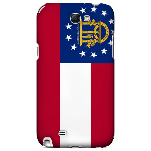 Georgia - Geeks Designer Line Flag Series Hard Back Case for Samsung Galaxy Note 2