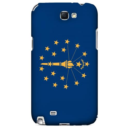 Indiana - Geeks Designer Line Flag Series Hard Back Case for Samsung Galaxy Note 2