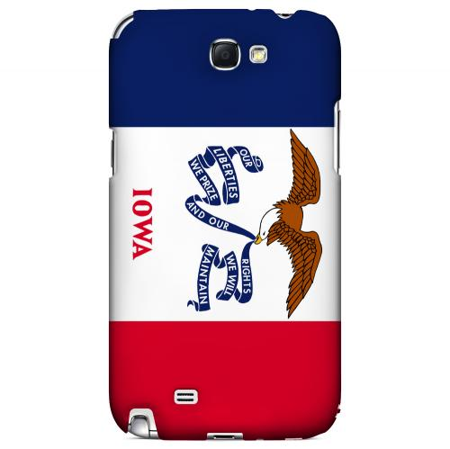 Iowa - Geeks Designer Line Flag Series Hard Back Case for Samsung Galaxy Note 2