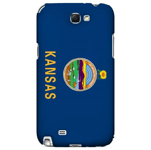 Kansas - Geeks Designer Line Flag Series Hard Back Case for Samsung Galaxy Note 2