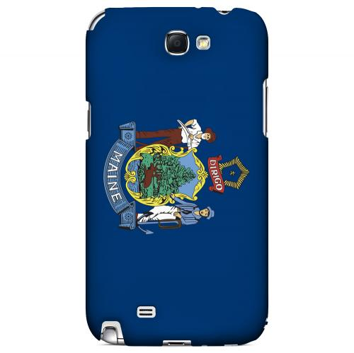 Maine - Geeks Designer Line Flag Series Hard Back Case for Samsung Galaxy Note 2