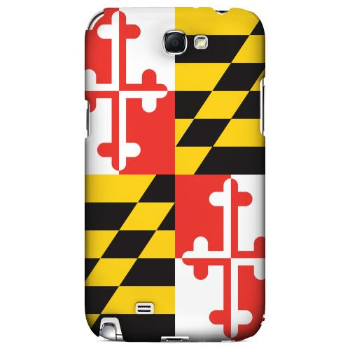 Maryland - Geeks Designer Line Flag Series Hard Back Case for Samsung Galaxy Note 2
