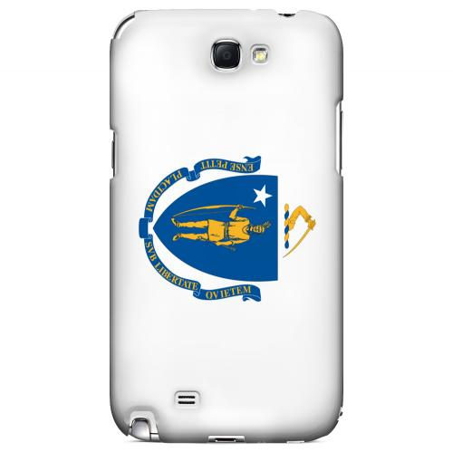 Massachusetts - Geeks Designer Line Flag Series Hard Back Case for Samsung Galaxy Note 2