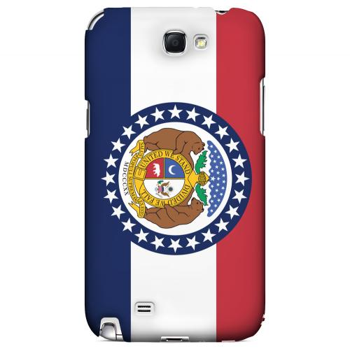 Missouri - Geeks Designer Line Flag Series Hard Back Case for Samsung Galaxy Note 2