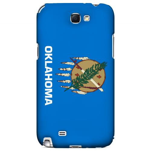 Oklahoma - Geeks Designer Line Flag Series Hard Back Case for Samsung Galaxy Note 2