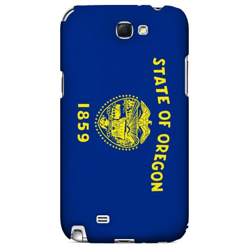 Oregon - Geeks Designer Line Flag Series Hard Back Case for Samsung Galaxy Note 2