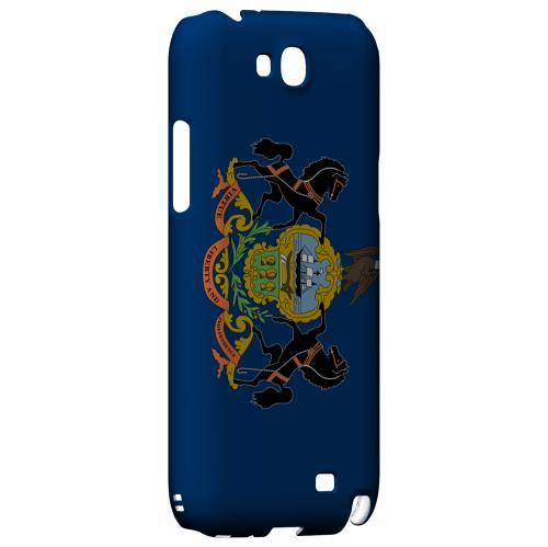 Pennsylvania - Geeks Designer Line Flag Series Hard Back Case for Samsung Galaxy Note 2