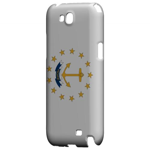 Rhode Island - Geeks Designer Line Flag Series Hard Back Case for Samsung Galaxy Note 2