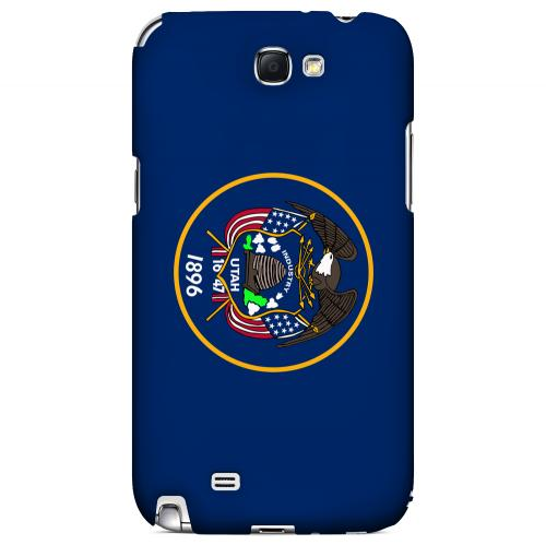 Utah - Geeks Designer Line Flag Series Hard Back Case for Samsung Galaxy Note 2
