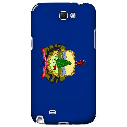 Vermont - Geeks Designer Line Flag Series Hard Back Case for Samsung Galaxy Note 2