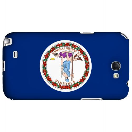 Virginia - Geeks Designer Line Flag Series Hard Back Case for Samsung Galaxy Note 2