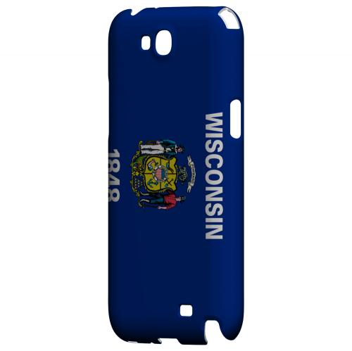 Wisconsin - Geeks Designer Line Flag Series Hard Back Case for Samsung Galaxy Note 2