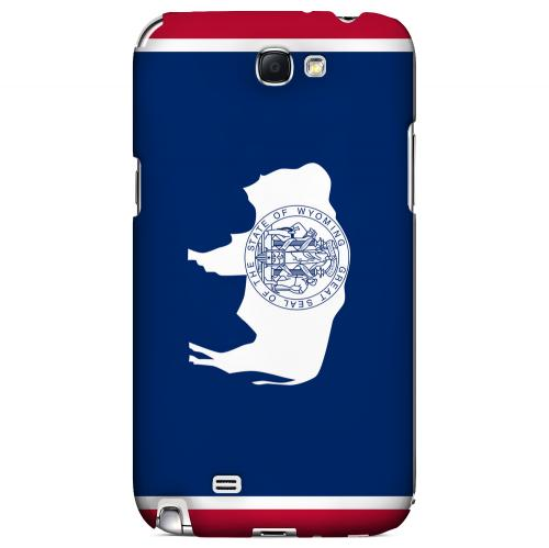 Wyoming - Geeks Designer Line Flag Series Hard Back Case for Samsung Galaxy Note 2