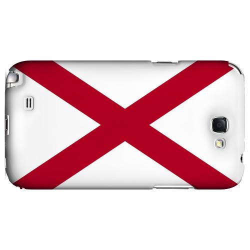 Alabama - Geeks Designer Line Flag Series Hard Back Case for Samsung Galaxy Note 2