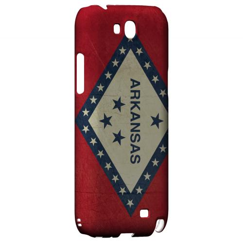 Grunge Arkansas - Geeks Designer Line Flag Series Hard Case for Samsung Galaxy Note 2