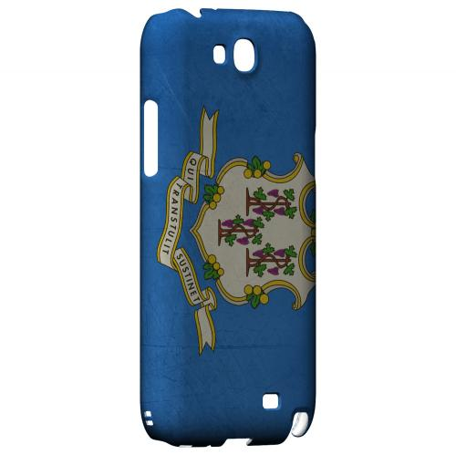 Grunge Connecticut - Geeks Designer Line Flag Series Hard Case for Samsung Galaxy Note 2
