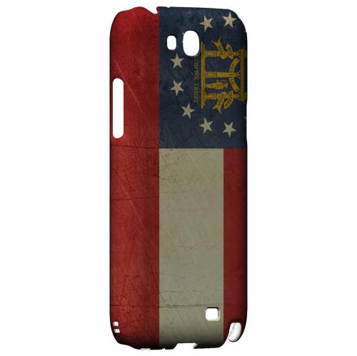 Grunge Georgia - Geeks Designer Line Flag Series Hard Case for Samsung Galaxy Note 2