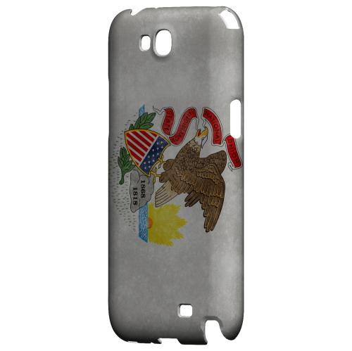 Grunge Illinois - Geeks Designer Line Flag Series Hard Case for Samsung Galaxy Note 2