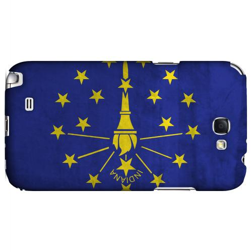 Grunge Indiana - Geeks Designer Line Flag Series Hard Case for Samsung Galaxy Note 2