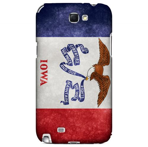 Grunge Iowa - Geeks Designer Line Flag Series Hard Case for Samsung Galaxy Note 2