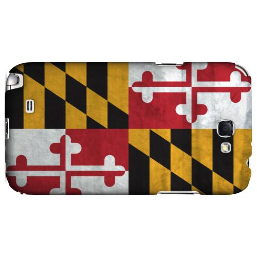 Grunge Maryland - Geeks Designer Line Flag Series Hard Case for Samsung Galaxy Note 2