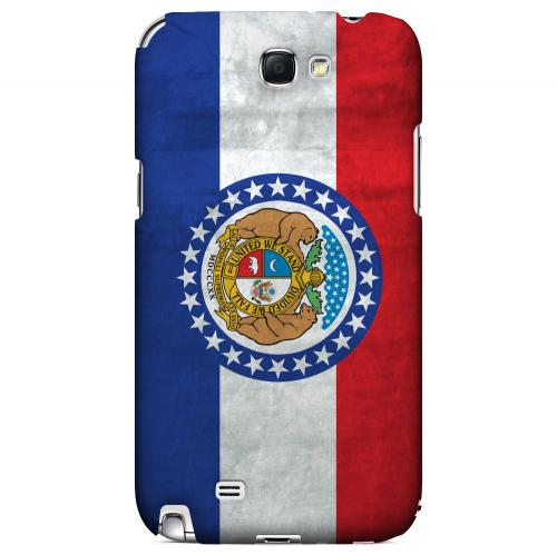 Grunge Missouri - Geeks Designer Line Flag Series Hard Case for Samsung Galaxy Note 2