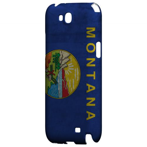Grunge Montana - Geeks Designer Line Flag Series Hard Case for Samsung Galaxy Note 2