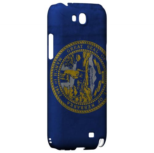Grunge Nebraska - Geeks Designer Line Flag Series Hard Case for Samsung Galaxy Note 2