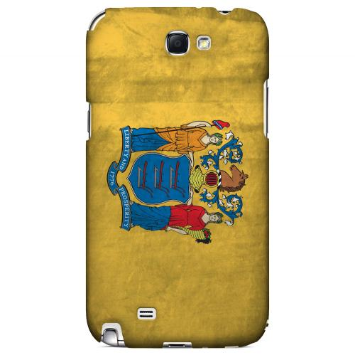 Grunge New Jersey - Geeks Designer Line Flag Series Hard Case for Samsung Galaxy Note 2
