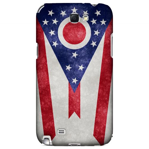 Grunge Ohio - Geeks Designer Line Flag Series Hard Case for Samsung Galaxy Note 2