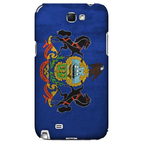 Grunge Pennsylvania - Geeks Designer Line Flag Series Hard Case for Samsung Galaxy Note 2