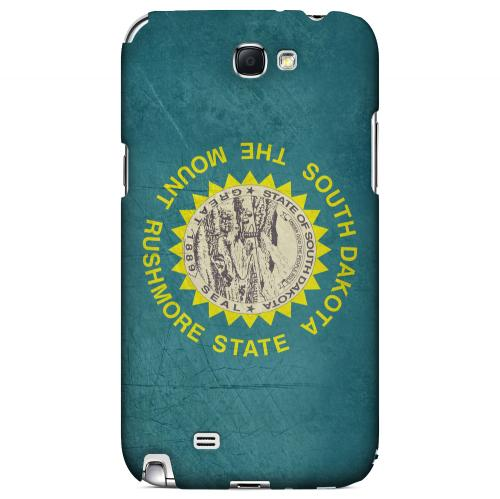 Grunge South Dakota - Geeks Designer Line Flag Series Hard Case for Samsung Galaxy Note 2
