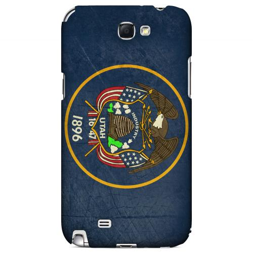 Grunge Utah - Geeks Designer Line Flag Series Hard Case for Samsung Galaxy Note 2