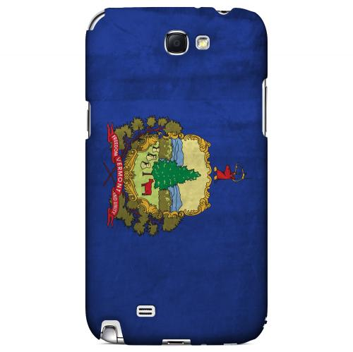 Grunge Vermont - Geeks Designer Line Flag Series Hard Case for Samsung Galaxy Note 2
