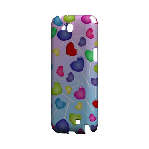 Assorted Heart Lollipops Geeks Designer Line Candy Series Slim Hard Back Cover for Samsung Galaxy Note 2