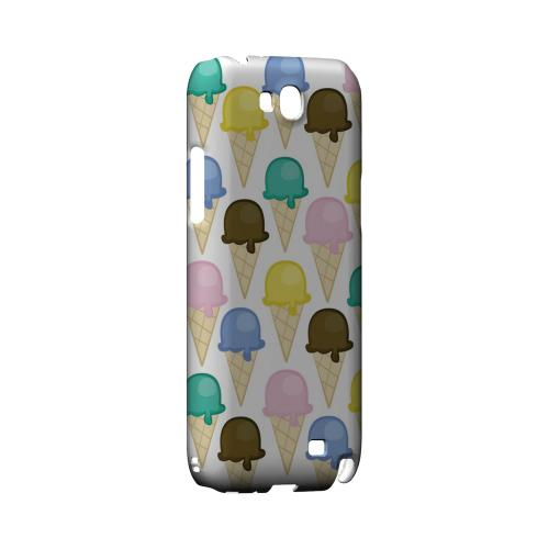 Assorted Ice Cream Cones Geeks Designer Line Candy Series Slim Hard Back Cover for Samsung Galaxy Note 2