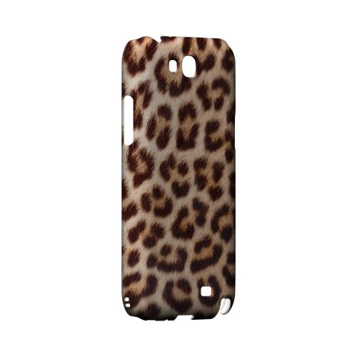 Leopard Close-Up Geeks Designer Line Animal Print Series Slim Hard Back Cover for Samsung Galaxy Note 2