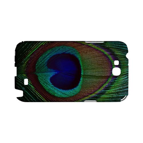 Colorful Peacock Feather Geeks Designer Line Animal Print Series Slim Hard Back Cover for Samsung Galaxy Note 2