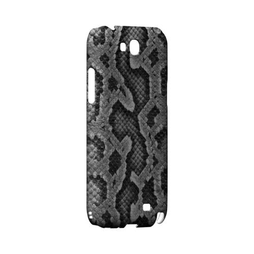 Gray Snake Skin Geeks Designer Line Animal Print Series Slim Hard Back Cover for Samsung Galaxy Note 2