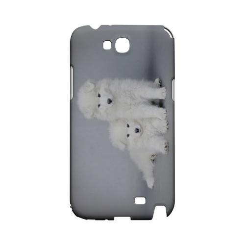 Samoyed Puppies Geeks Designer Line Puppy Series Slim Hard Case for Samsung Galaxy Note 2