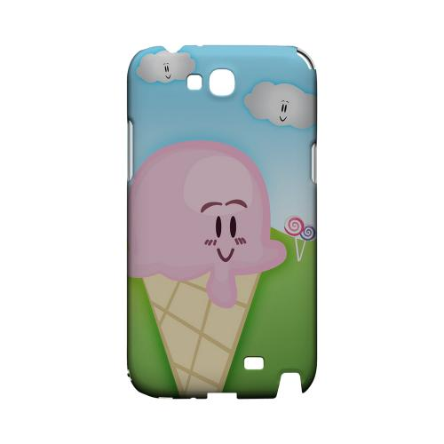 Cute Pink Ice Cream Cone Geeks Designer Line Candy Series Slim Hard Back Cover for Samsung Galaxy Note 2