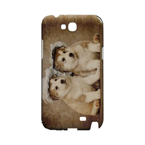 Alaskan Malamute Geeks Designer Line Puppy Series Slim Hard Case for Samsung Galaxy Note 2
