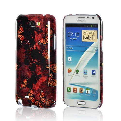 Butterflies on Parade Asian Print Series Slim Hard Case for Samsung Galaxy Note 2 Geeks Designer Line